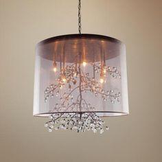 "Artcraft Sherwood 6-Light 19 1/2"" Wide Bronze Pendant Light $607 (also in white and chrome)"
