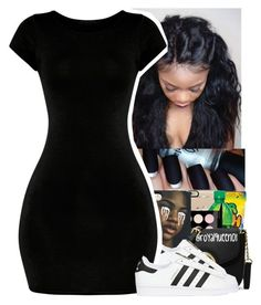 """""""⚫️⚪️⚫️⚪️"""" by jazzy-love1164 ❤ liked on Polyvore featuring adidas Originals"""