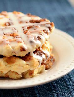 Cinnamon Roll Waffles from Scratch on MyRecipeMagic.com