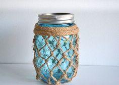 Nautical-Inspired Fishnet Mason Jar Tutorial – Factory Direct Craft Blog