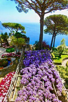 Villa Rufolo Gardens in Ravello, Italy along the Amalfi Coast #ravello #italy