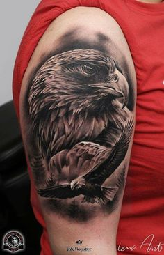 Eagle tattoo done by Lena Art
