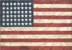 Jasper Johns was born in America, on May 1930 in Augusta, Georgia to be exact. As a boy, he knew he would be an artist one day. So when he grew up, he moved to New York and studied art. Jasper Johns became famous for painting ordinary things that. American Flag Wall Art, Large American Flag, American Art, American Dreams, American Pride, Jasper Johns, Willem De Kooning, Robert Rauschenberg, Art Pop