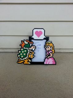 Couples Picture Frame - Bowser and Princess Peach