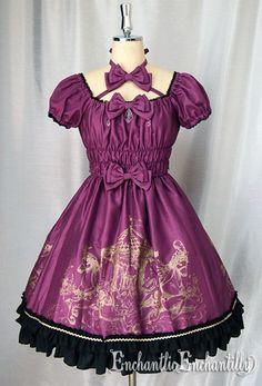 Phantom Merry-Go-Round dress (pink purple x gold)