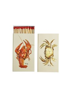 Crab & Lobster Matchbook = fun for all my candle lighting. So much cooler than lighters!