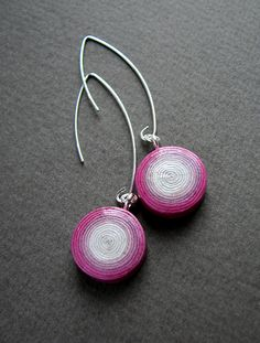 newspaper earrings   @blureco