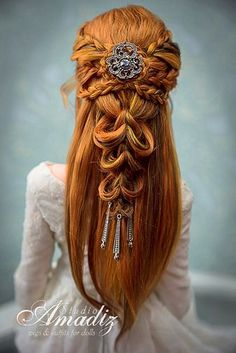 Potential Wedding Hairstyle - Frisuren/Haare(hairstyles and hair) - Hair Pretty Hairstyles, Braided Hairstyles, Wedding Hairstyles, Fantasy Hairstyles, Elven Hairstyles, Crazy Hairstyles, Bohemian Hairstyles, Blonde Hairstyles, Updo Hairstyle
