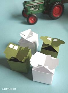 A Little Hut Let's Go Boxes Template