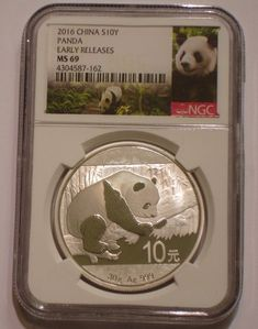 2016 Silver 10 yuan PANDA of China NGC MS 69 EARLY RELEASES
