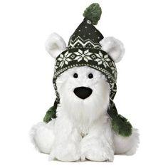 "11"" Aurora Plush White Puppy Dog Wuff & Friends Holiday Stuffed Animal Toy 09802 #Aurora"