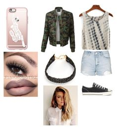 """d.d"" by dreamingirl7 ❤ liked on Polyvore featuring Casetify, Topshop, Converse, LE3NO and Vanessa Mooney"