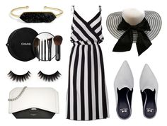 """""""Black white mules"""" by texaspinkfox ❤ liked on Polyvore featuring Marc Jacobs, Givenchy, Chanel and BaubleBar"""