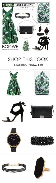 """Romwe 6"" by amra-f ❤ liked on Polyvore featuring Chanel, Olivia Burton, Bling Jewelry, Humble Chic, Jaeger and Nika"