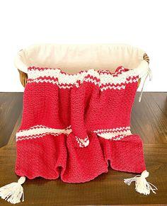 Candy Cane Baby Blanket Crochet Kit Easy Crochet Baby   Etsy