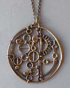 "Jorma Laine Oversized ""Machine"" Necklace – Welsh Elliott Modernism"