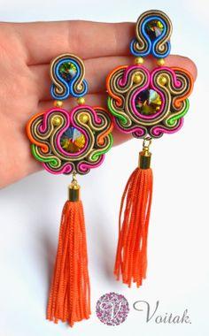 Soutache Jewelry. Artystyczna Biżuteria Autorska Katarzyna Wojtak: Rio. Sutasz.