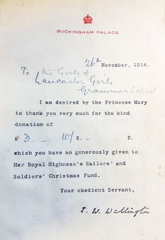 Royal Interest Ten Handwritten Letters And A Card By Queen Mary