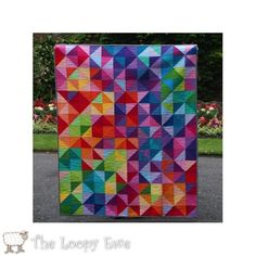 I really want to make this quilt! Postcards from Sweden Kona Quilt Kit from The Loopy Ewe