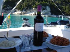 Not just an ordinary pasta wink emoticon ‪#‎YachtcharterGriechenland‬ ‪#‎YachtcharterKykladen‬