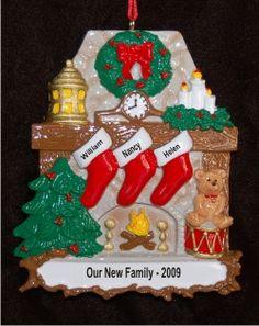 I Heart My Goddaughter Family Christmas Ornament  Family