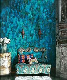 the turquoise wall