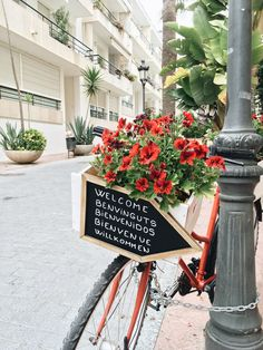 a welcome outside the san sebastian hotel in siges | spain travel guide on coco kelley