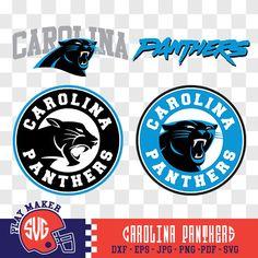 Carolina Panthers SVG, Panthers Football Clipart, Carolina Panthers Monogram, Panthers Silhouette, Screen Printing, Play_014