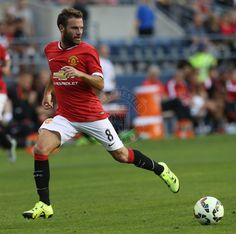 Juan Mata in action in Seattle against Club America