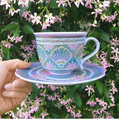 Handpainted Seashell Teacup - Perfect for tea lovers, ocean gypsies and aspiring mermaids.