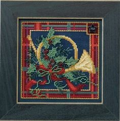 FRENCH HORN - Button & Bead Cross Stitch Kit