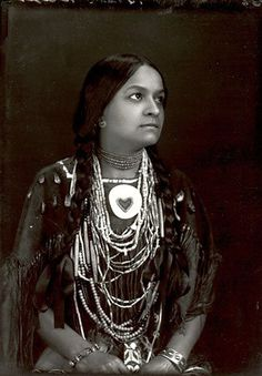 Wahtawaso (aka Bright Star, aka Lucy Nicolar-Poolaw) the daughter of Joseph Nicolar, and the wife of Bruce Poolaw - Penobscot - 1900
