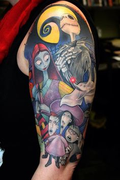 The Nightmare Before Christmas film tattoo