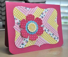 Card Creations by Beth: First Washi Tape Card! stampin up; a round array