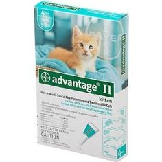 Bayer Advantage II Turquoise 4-Month Flea Control for Kittens under, 5-Pound --- http://www.pinterest.com.gp1.me/3o