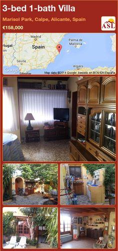 3-bed 1-bath Villa in Marisol Park, Calpe, Alicante, Spain ►€158,000 #PropertyForSaleInSpain