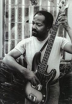 "Jamerson and his 1962 ""Funk Machine"" Precision Bass."
