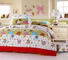 Beautiful Fairy Kids Bedding Set Full Color Cotton Material Floral And Plka Dot Pattern Twin Size Girls Bedding Set Comely Fairy Kids Bedding Set Kids Room