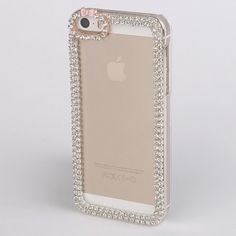 For Apple iPhone 5 5S Shiny Diamonds Rhinestone Cute Bow Clear Hard Case Cover #rhinestone #sparkly #phonecase #bridal