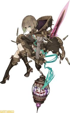 View an image titled 'Gretel, Paladin Job Art' in our SINoALICE art gallery featuring official character designs, concept art, and promo pictures. Female Character Design, Character Design References, Character Design Inspiration, Game Character, Character Concept, Concept Art, Manga Characters, Fantasy Characters, Anime Fantasy