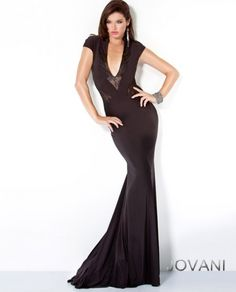 Jovani Lace Panel Jersey Gown Style 9605 #Fashion