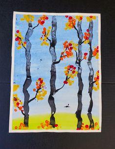 that artist woman: Making Autumn Trees: Printmaking