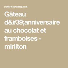 Gâteau d'anniversaire au chocolat et framboises - mirliton