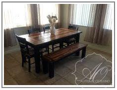AutumnOstlundDesign: Golden pecan & dark walnut farmhouse table {finishing}