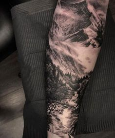 Top arm tattoos for men - best arm tattoos for men: cool arm tattoo . - Top Arm Tattoos For Men – Best Arm Tattoos For Men: Cool Arm Tattoo Ideas and De… # - Nature Tattoo Sleeve, Full Sleeve Tattoo Design, Arm Sleeve Tattoos, Leg Tattoos, Mountain Sleeve Tattoo, Full Hand Tattoo, Forest Tattoo Sleeve, Mens Full Sleeve Tattoo, Tricep Tattoos