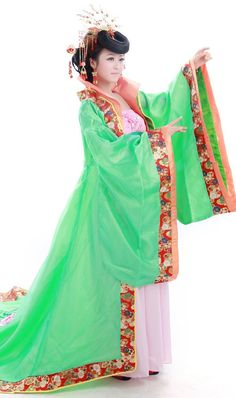2c0aac604 Price tracker and history of Chinese ancient clothing Costume tang dynasty  train tang costume female princess queen high stand collar