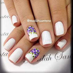 36 Beautiful Modern Nails With Bombastic Design Great Nails, Cute Nails, Fancy Nails, Diy Nails, Nail Art Designs, Modern Nails, Flower Nails, Gorgeous Nails, Manicure And Pedicure