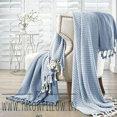 Add simple charm  in your living room  by folding a throw lengthwise over the armchair.Check out our throw collection @www.throwpillow.in…