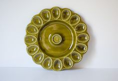 Vintage California Pottery Deviled Eggs Platter / Tray. $24.00, via Etsy.