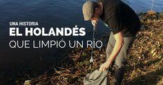 Cansado de ver el río de su ciudad lleno de basura, este holandés limpia el río Schie y viraliza su accionar. ¡Conoce lo que logró con su ejemplo!